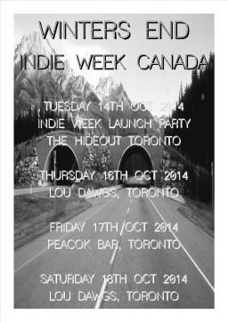 Indie Week Canada Poster
