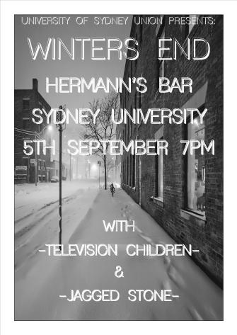 Winters End Sydney Uni Poster