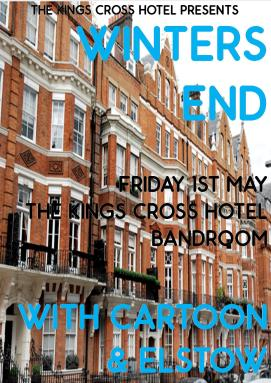 Winters End Kings Cross Bandroom Poster