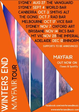Mayfair Single Tour Poster